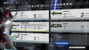 Within the foundry you can craft new Warframes, Weapons and Items. But you need the resources, blueprints and money for that.