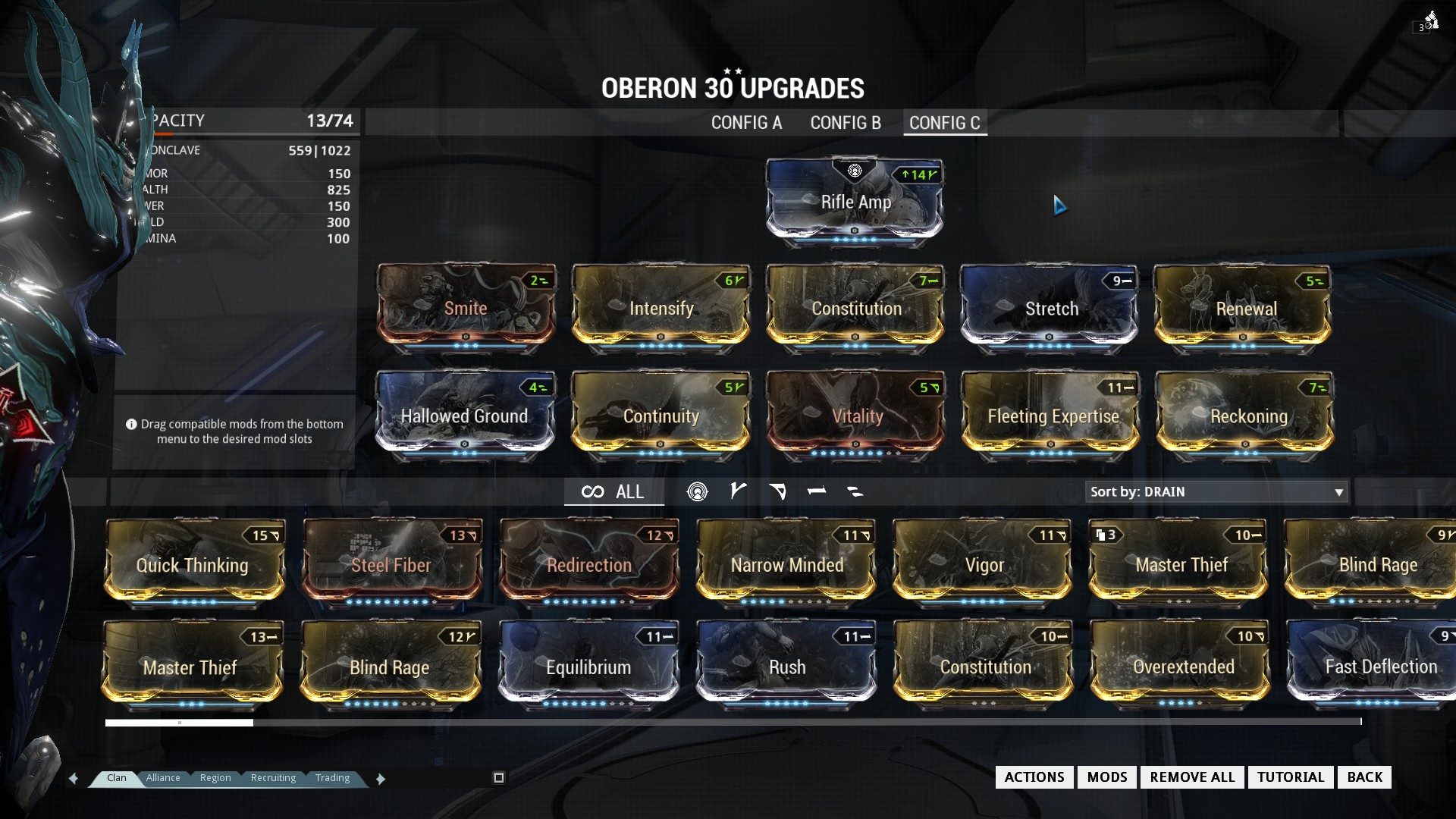 Warframe best weapons 2015 - Build C Gives You The Best Of All Worlds But Lacks In Specializing Traits A