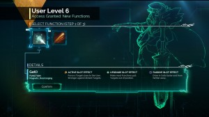 Each time you level up you unlock new abilities, slots and limiters.