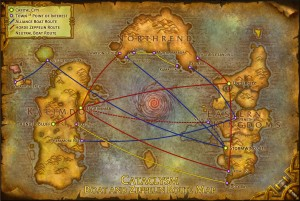 When WoW was new, exploring the world and planning your travel was part of the process. Fast travel and only few points of interest ruined a lot of this flair.