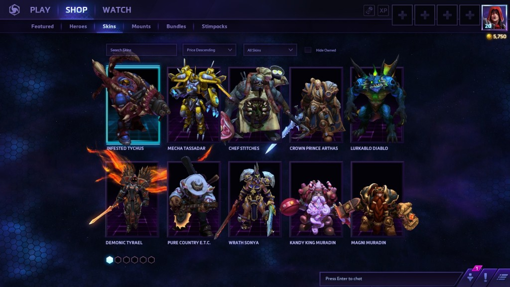 Skins are nicely done, but don't have the high standard of competitors like Smite. The pricing should be adjusted accordingly to get people into buying them.