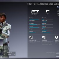 Loadout screens show various stats as well as the perks you get with the loadout card