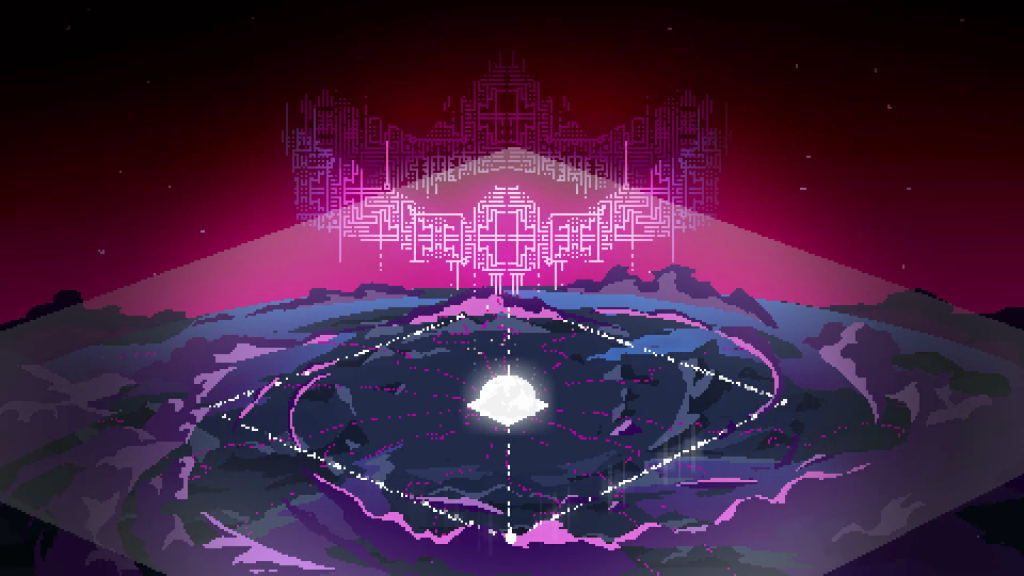 Dreams about death and destruction accompany your hero. The visual language in Hyper Light Drifter is stunning.