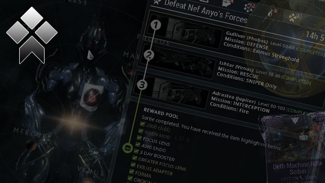 Warframe: Sortie Mission Guide